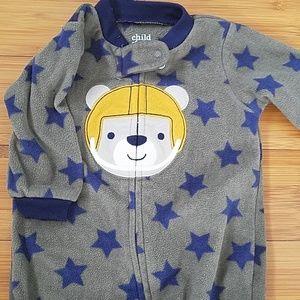Carter's fleece bear pajamas size 3-6 months